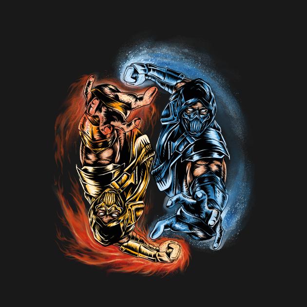 TeePublic: mortal combat yin yang