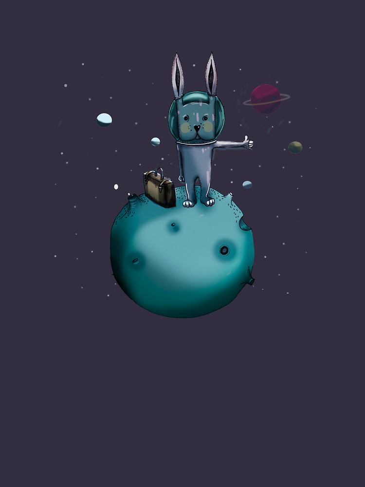 RedBubble: hitchhiking bunny
