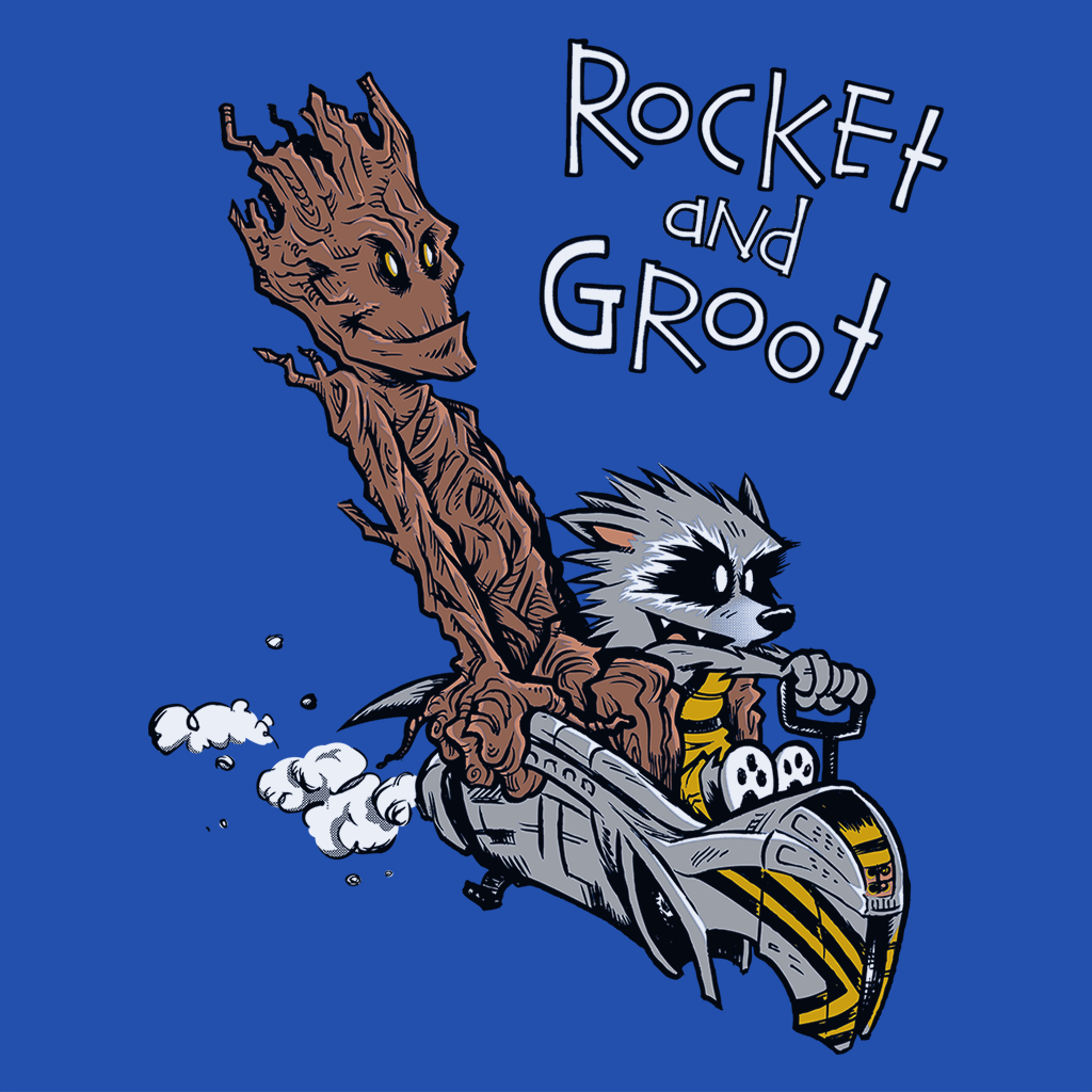 Pop-Up Tee: Rocket Groot
