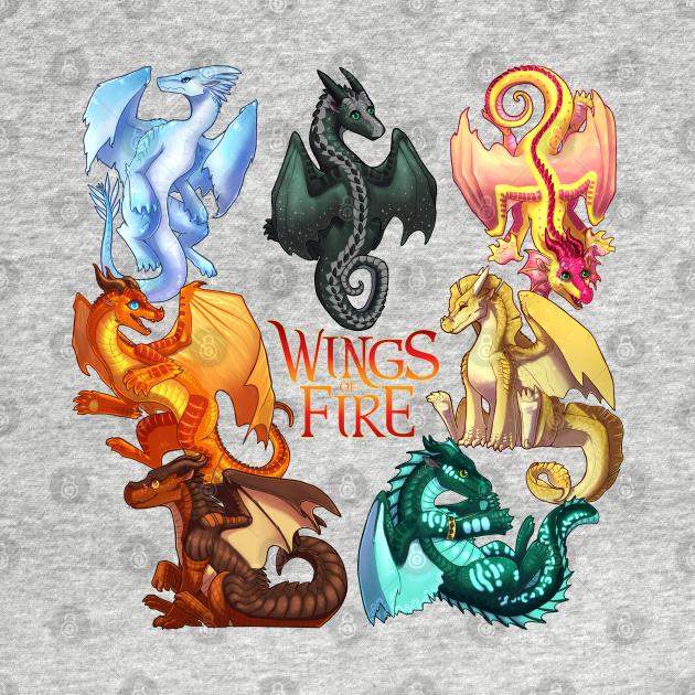 TeePublic: Wings of Fire: Jade Winglet Dragonets (with Logo)