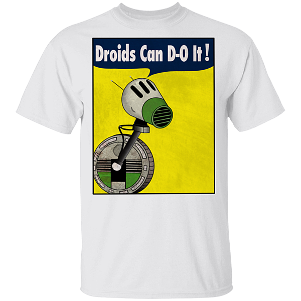 Pop-Up Tee: Droids Can D-O It