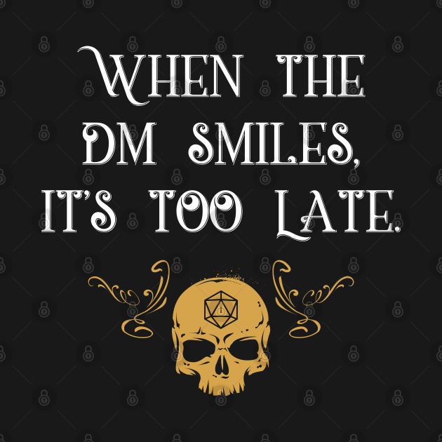 TeePublic: When The Master Smiles It's Too Late Gaming