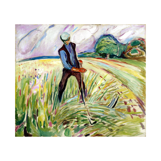 TeePublic: Edvard Munch The Haymaker