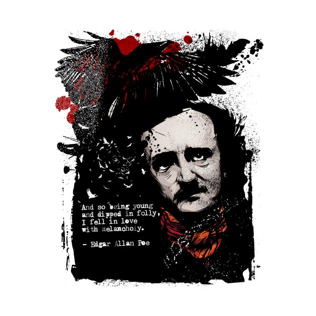 TeePublic: Alan Poe Quote Raven Artwork
