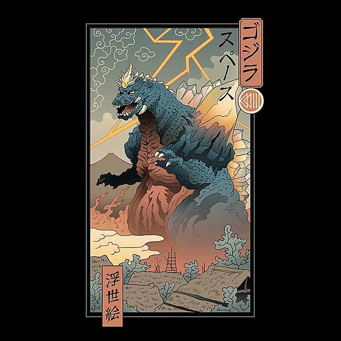 Once Upon a Tee: Space Kaiju Ukiyo-e
