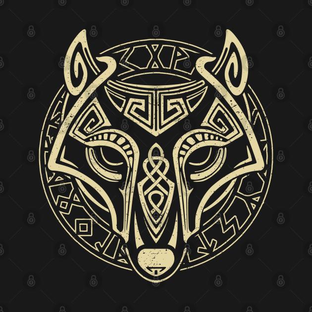 TeePublic: Viking Wolf