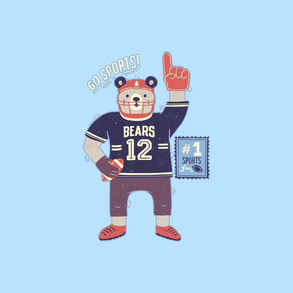 NeatoShop: American Football Bear