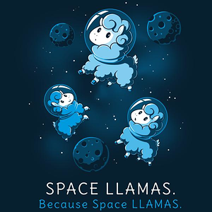 TeeTurtle: Space Llamas