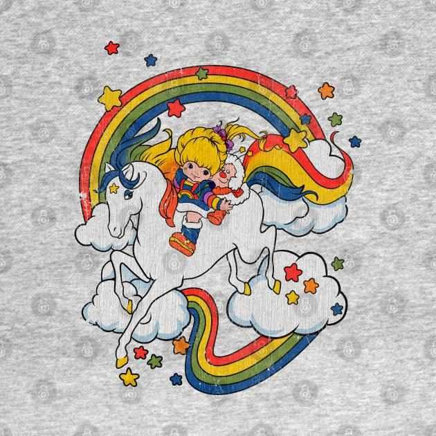 TeePublic: Vintage Rainbow Brite & Starlite