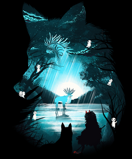Qwertee: Mystical Forest
