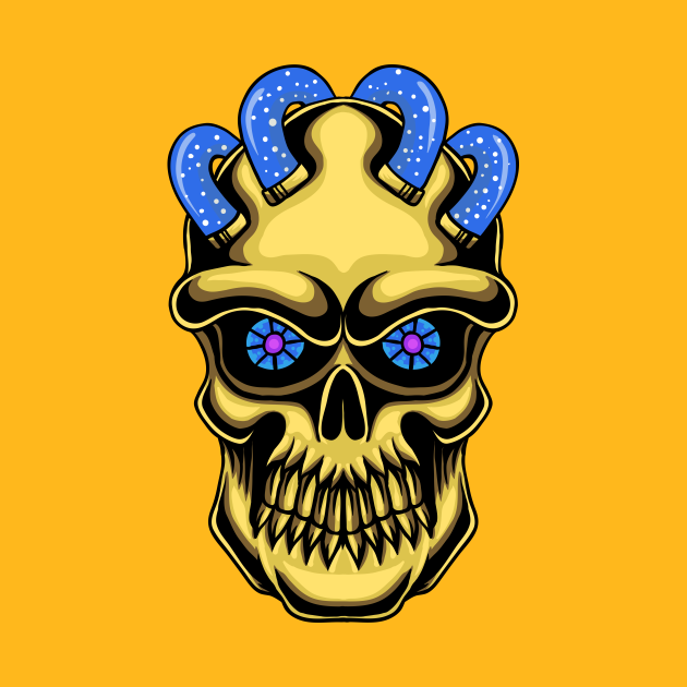 TeePublic: Golden Skull