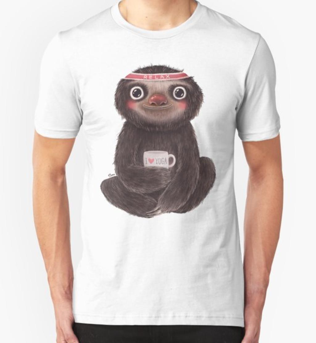RedBubble: Sloth I♥yoga