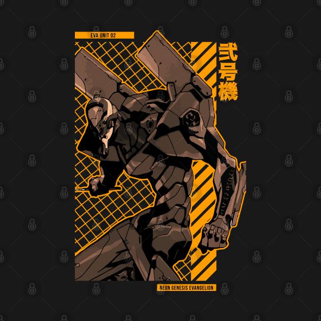 TeePublic: Eva Unit 02 = EVANGELION = Anime Star Edition -Gold-