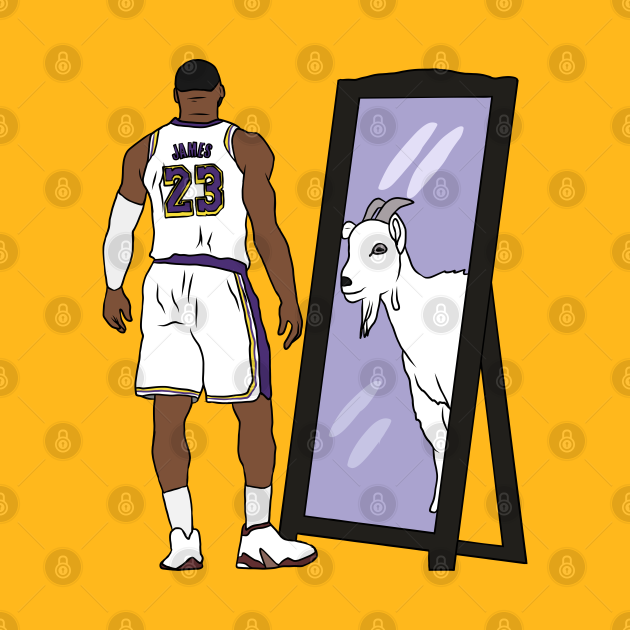 TeePublic: LeBron James Mirror GOAT (Lakers)