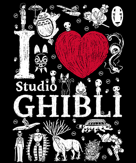 Qwertee: I love Ghibli