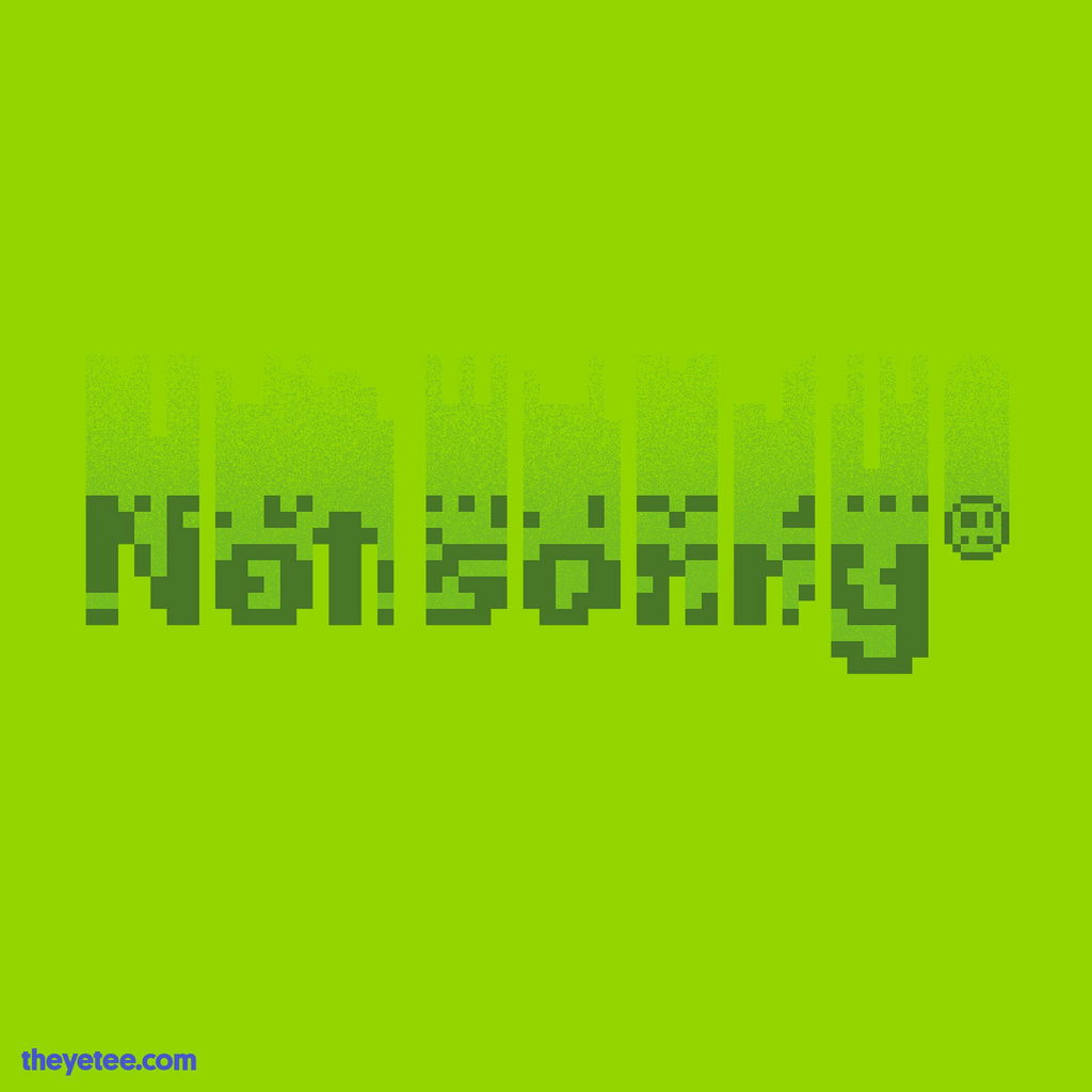 The Yetee: Not sorry