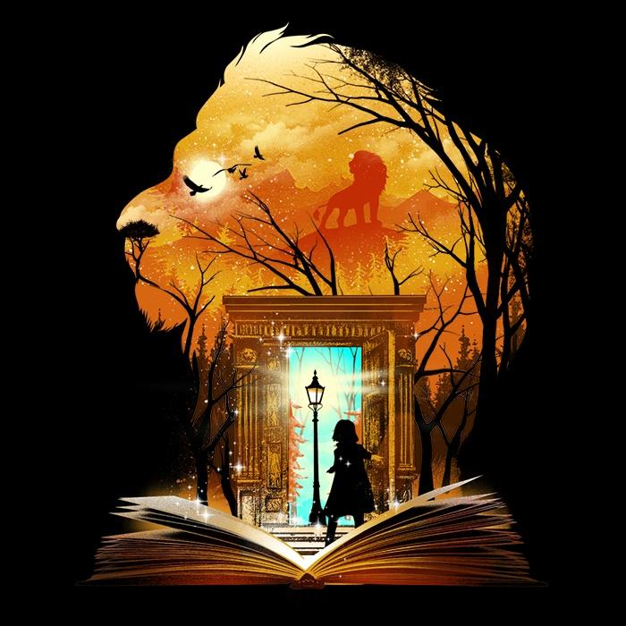Once Upon a Tee: Book of Lions and Witches