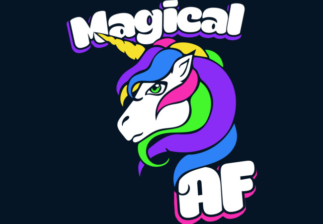 Design by Humans: Magical AF Unicorn