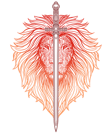 Qwertee: Sword of Lions