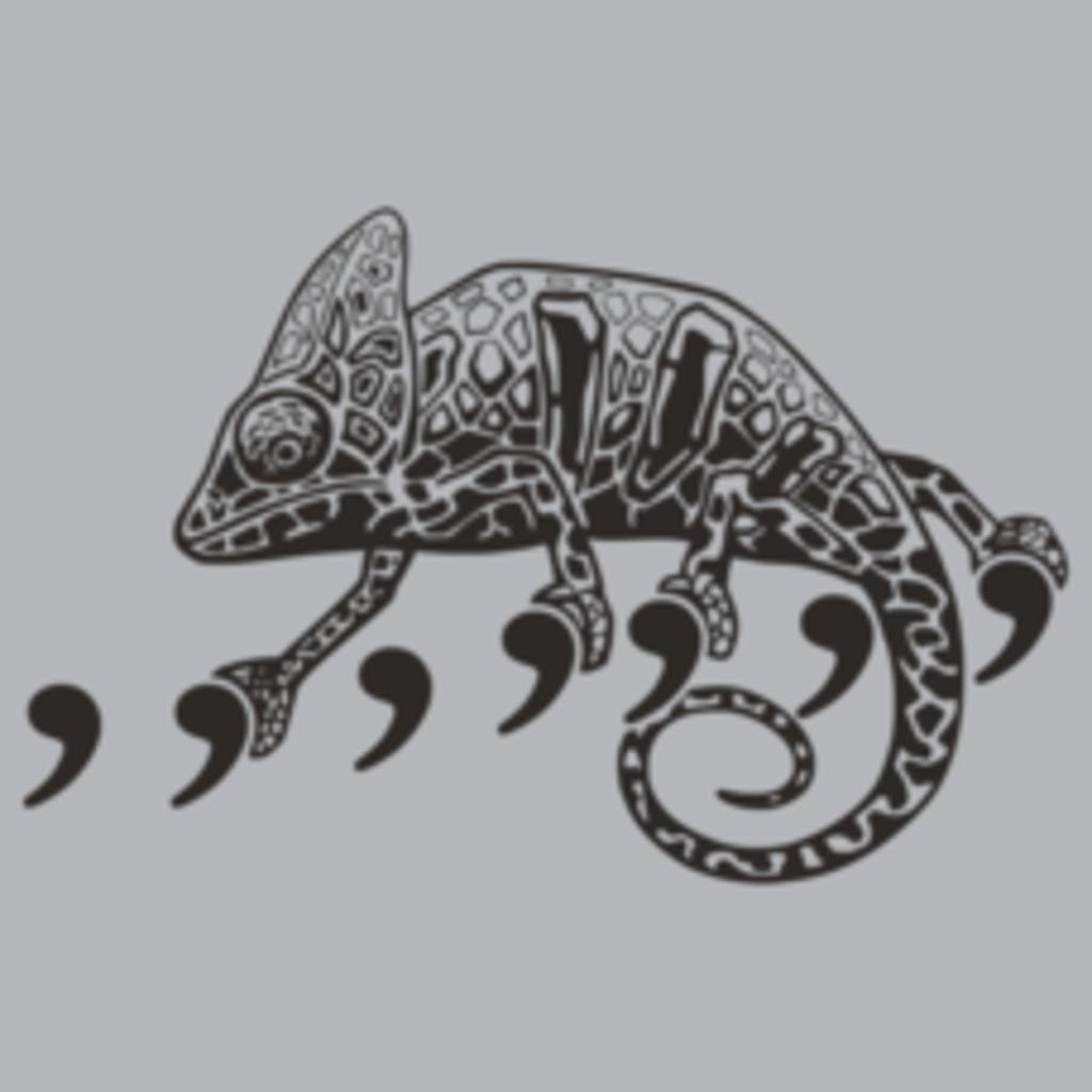 Textual Tees: Comma Chameleon T-Shirt