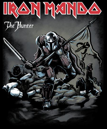Qwertee: Iron Mando The Hunter