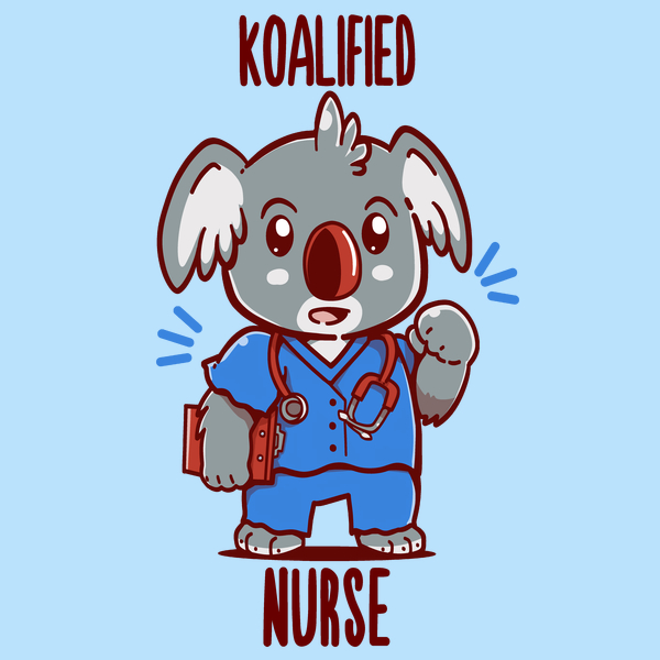 NeatoShop: Koalified Nurse - Koala Animal Pun Shirt