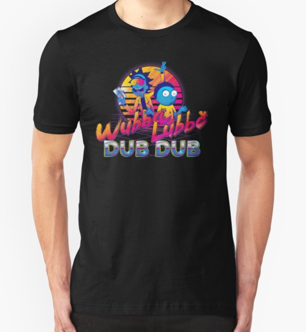 RedBubble: Rick and Morty Neon