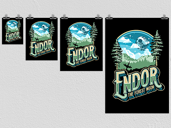 Woot!: Endor The Forrest Moon Poster