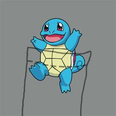 Textual Tees: Squirtle Pocket Tee