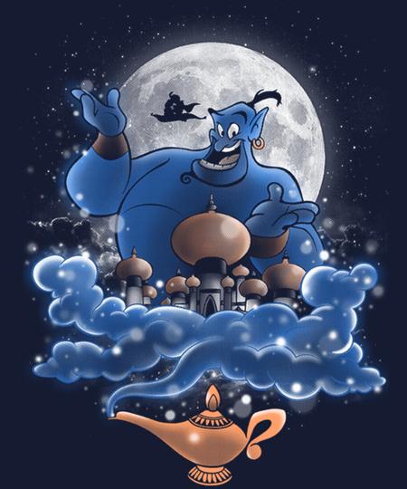 Qwertee: Moonlight Genie