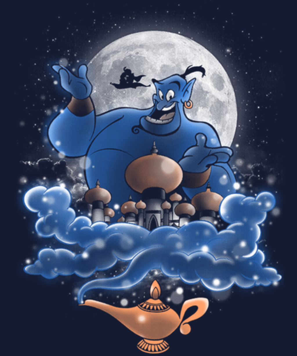 Qwertee: Moonlight Genie