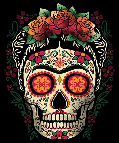 Qwertee: Frida calavera
