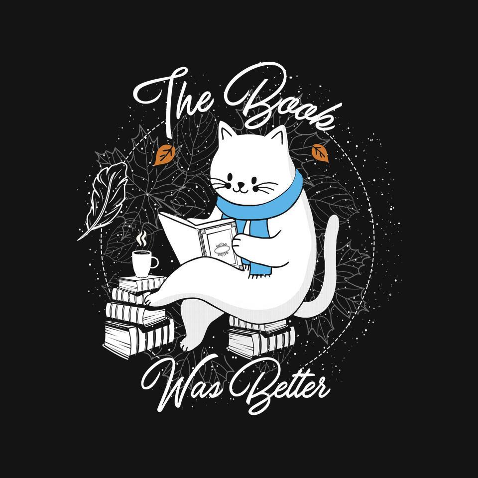 TeeFury: Cat Reader