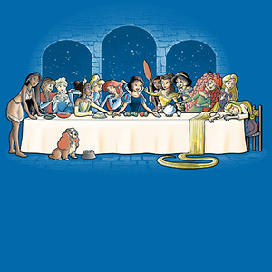Qwertee: Princess dinner