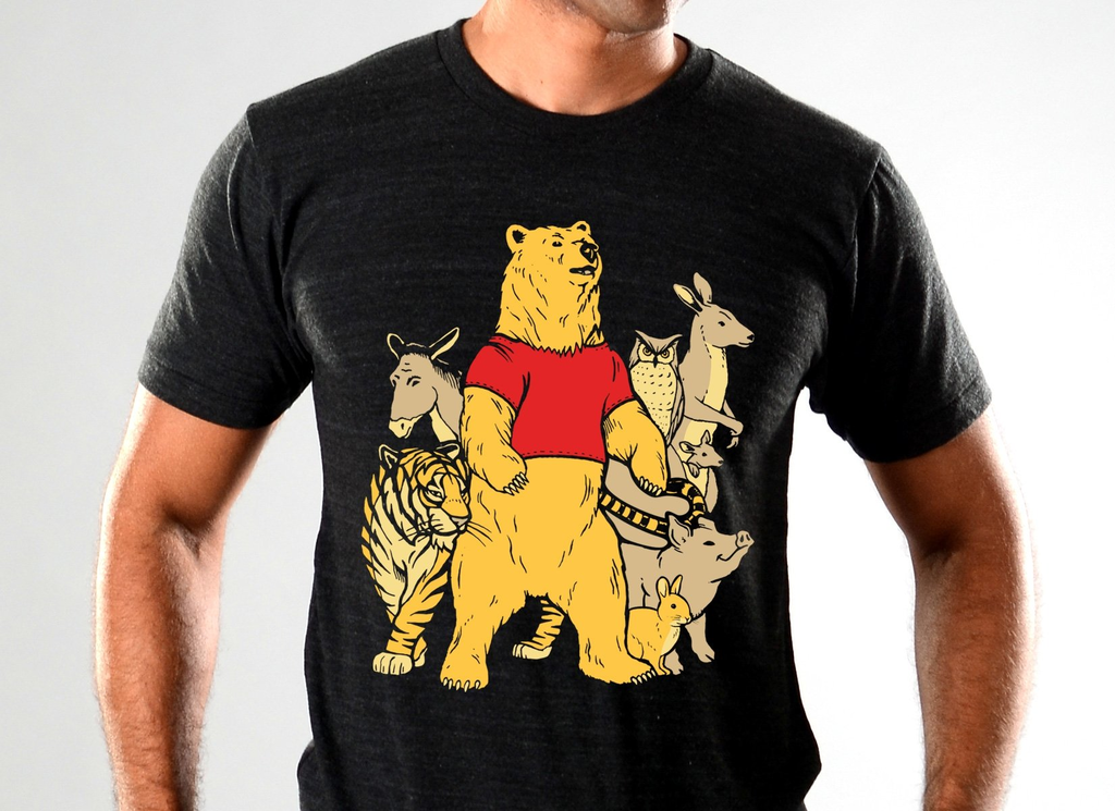 SnorgTees: Bear And Friends Limited Edition Tri-Blend