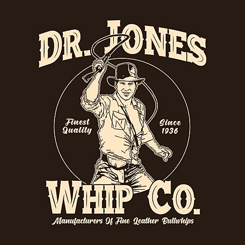 Five Finger Tees: Dr. Jones Whip Co. T-Shirt