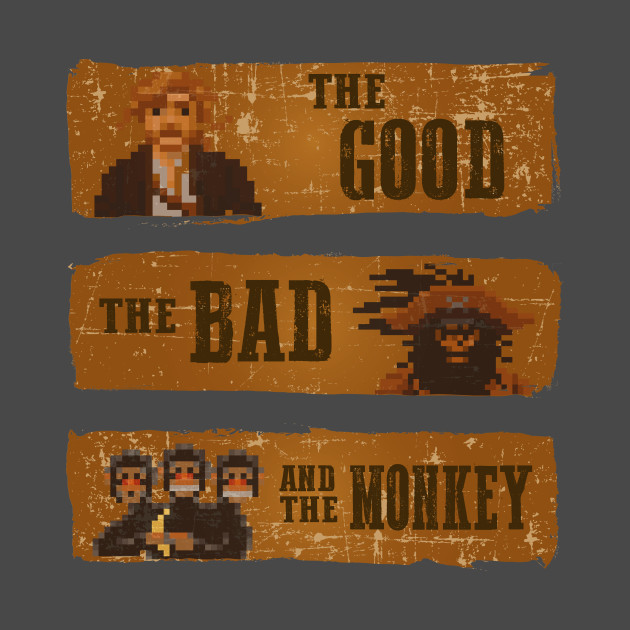 TeePublic: The good, the bad and the monkey