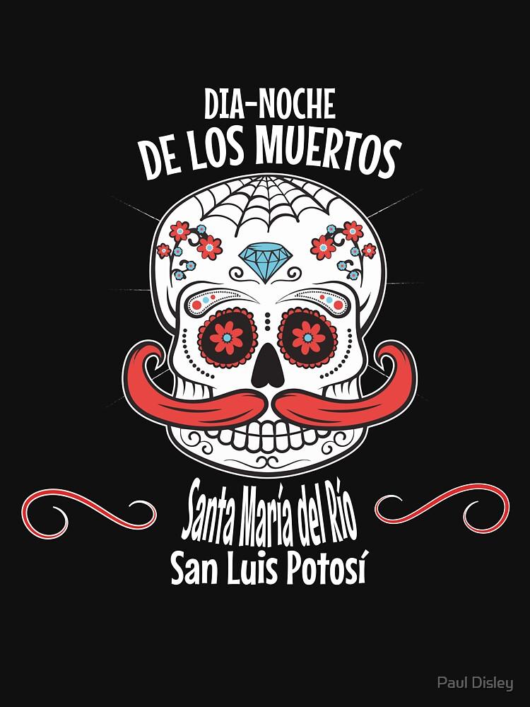 RedBubble: Halloween Dia-noche de los Muertos ,Santa Mar�a del R�o, San Luis Potos� Day of the Dead Retro Design