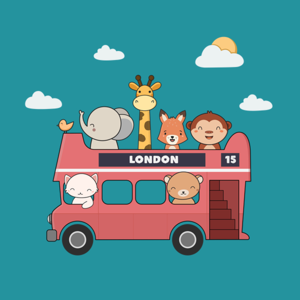 NeatoShop: London Bus Full Of Cute Animals