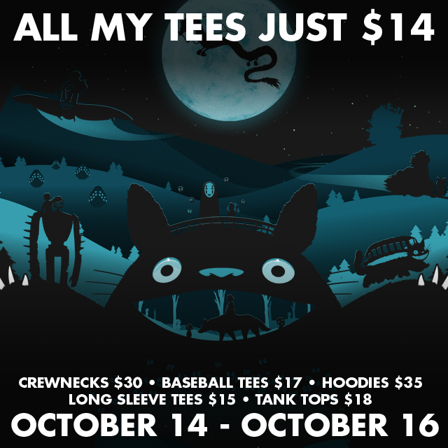 TeePublic: $14 October Sale