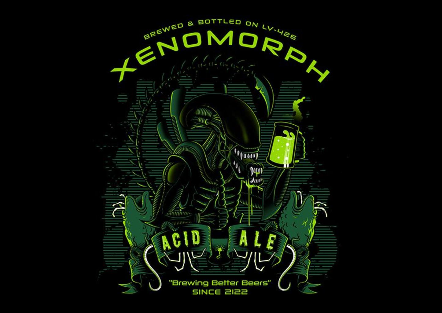 TeeFury: Xeno's Acid Ale