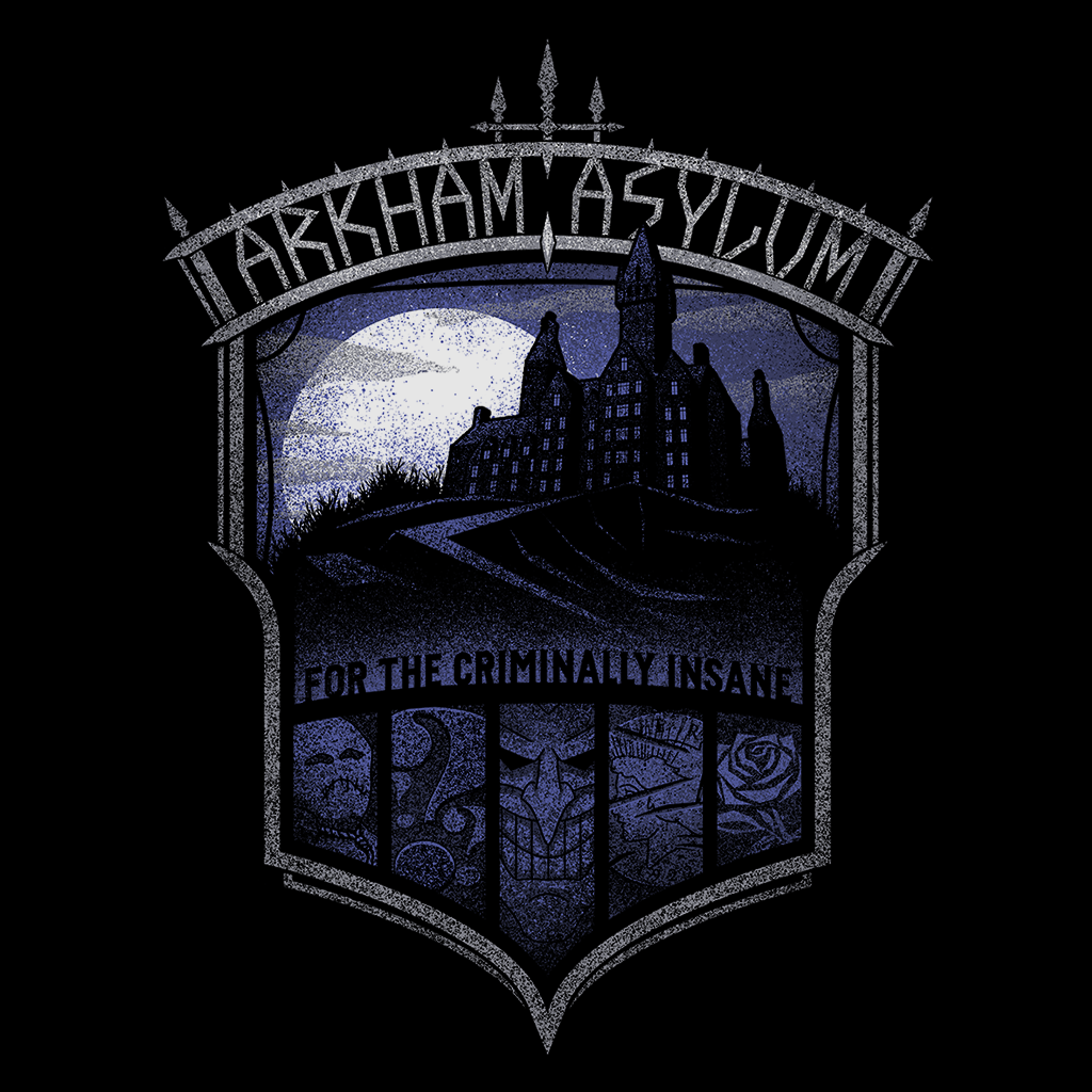 Pop-Up Tee: Arkham Asylum