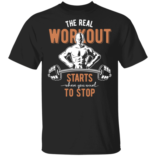 Pop-Up Tee: Real Workout