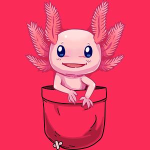 Design by Humans: Pocket Cute Axolotl