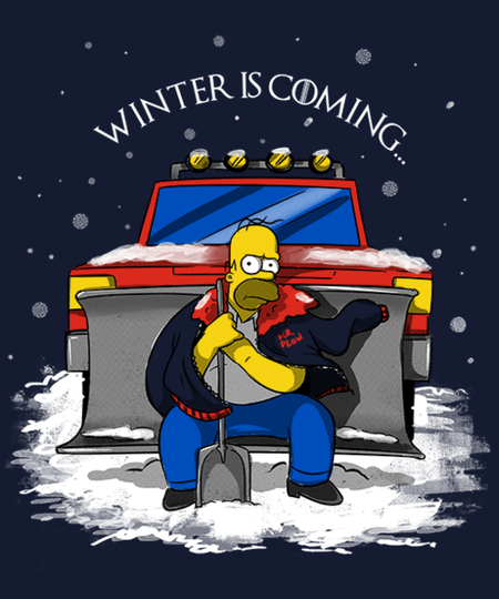 Qwertee: Winter is coming, call Mr Plow