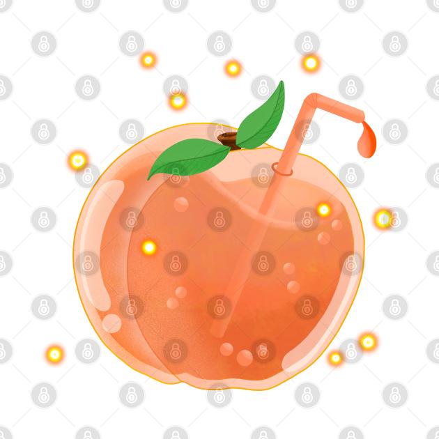 TeePublic: Peach Juice