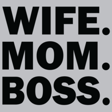 Textual Tees: Wife Mom Boss
