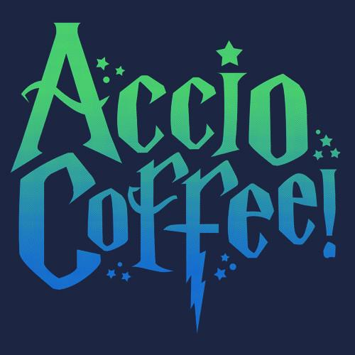Textual Tees: Accio Coffee