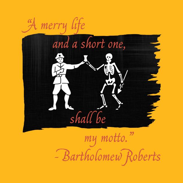 TeePublic: Bartholomew Roberts Flag