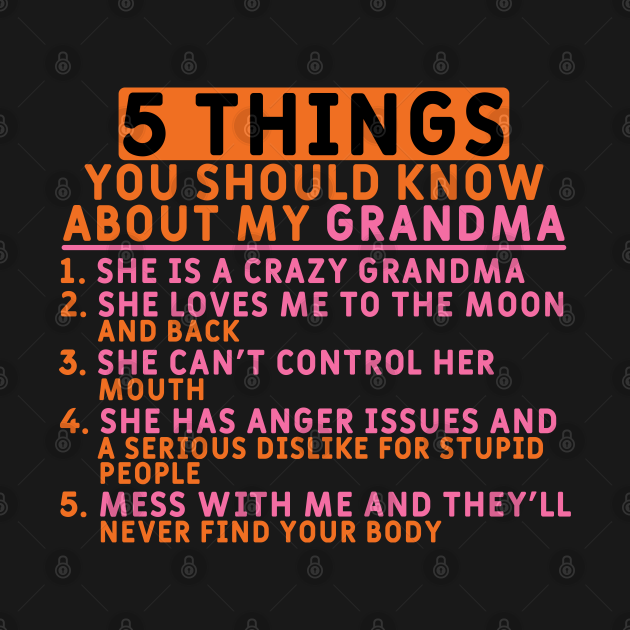 TeePublic: 5 Things You Should Know - Gift for Granddaughter
